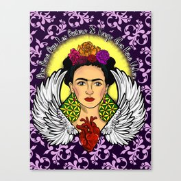 "Frida Kahlo ""Alas"" Canvas Print"