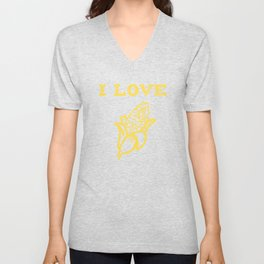 I Love Yellow Corn, Got Corn, Corn On The Cob, Vegetable Unisex V-Neck