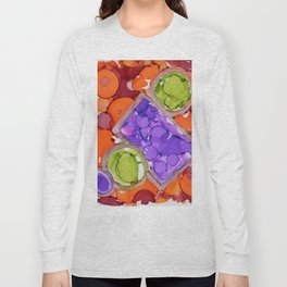 3D Orange Circles Long Sleeve T-shirt