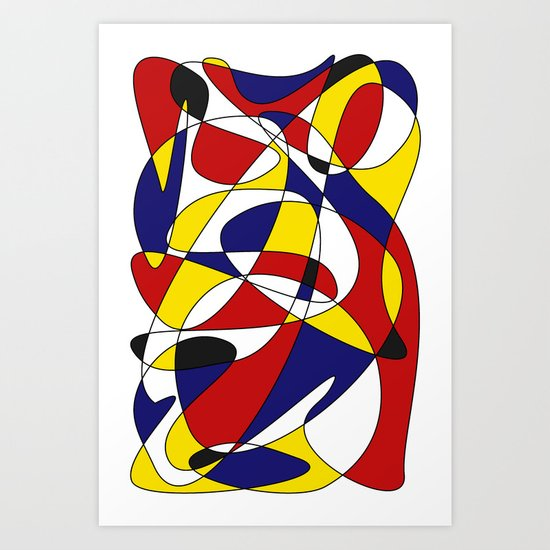 MONDRIAN AND GAUSS Art Print