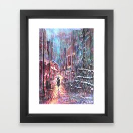Take a walk Framed Art Print