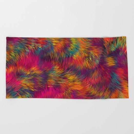 Rainbow Cuddles 08 Beach Towel