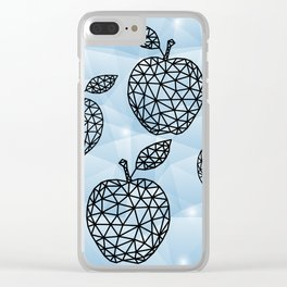 Abstract triangle apples with background Clear iPhone Case