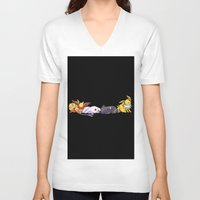 giants V-neck T-shirts featuring Sleeping Giants by Tdrisk46