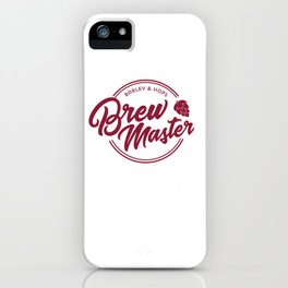 Funny Brew Master product | IPA Craft Beer Home Brewing iPhone Case