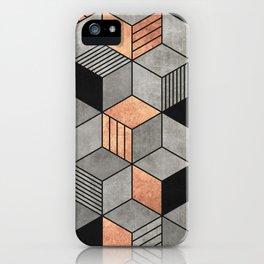 Concrete and Copper Cubes 2 iPhone Case