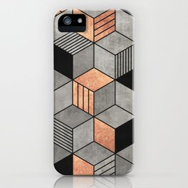 Concrete and Copper Cubes 2 iPhone Case