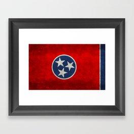 Tennessee State flag, Vintage version Framed Art Print