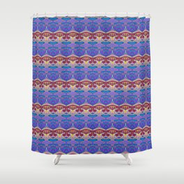 Soul Groove Rhythm Print Shower Curtain