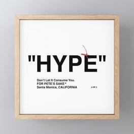 """""""HYPE"""" Framed Mini Art Print"""