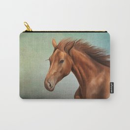 Drawing portrait  horse Carry-All Pouch