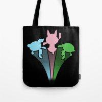 powerpuff girls Tote Bags featuring Powerpuff Girls by SBTee's