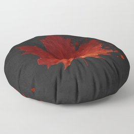 Maple Leaf Dispersion Effect Floor Pillow