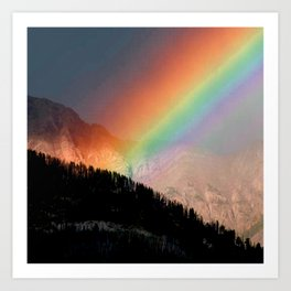 Rocky Mountain Rainbow Art Print