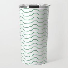 Ombre Waves Travel Mug
