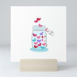 Saving My Love (Mason Jar Of Hearts) Mini Art Print