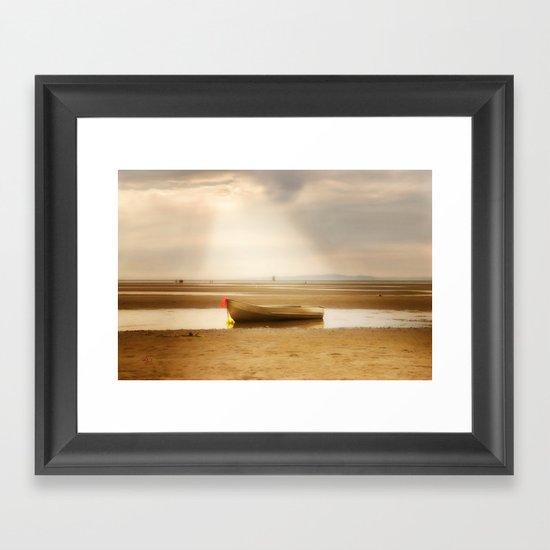 White Rock Rowboat II Framed Art Print