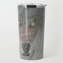 Sculpting a Wolf on Paper Travel Mug