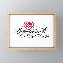 Sassenach with Red Celtic Heart (Light) Framed Mini Art Print