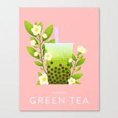 Bobalicious Green Tea Canvas Print