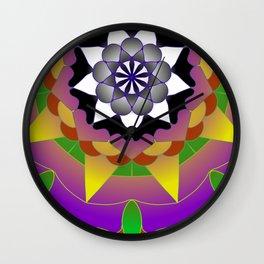 Solar eclipse mandala Wall Clock