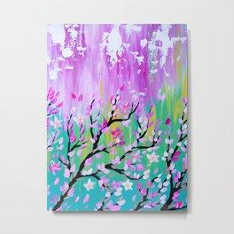 Weathered Cherry Blossom Metal Print