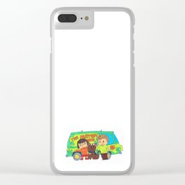 Sleuth Couple and Dog Clear iPhone Case