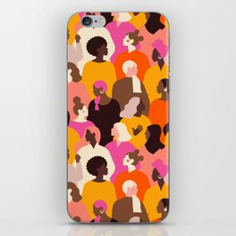Female diverse faces pink iPhone Skin