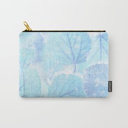 Blue autumn leaves Carry-All Pouch