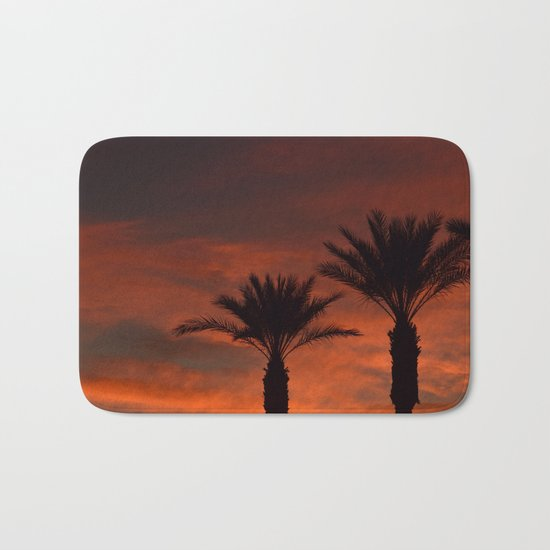 Palm Sunset - II Bath Mat
