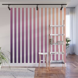 pastel stripes or pinstripes Wall Mural