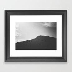 Dark mountain Framed Art Print