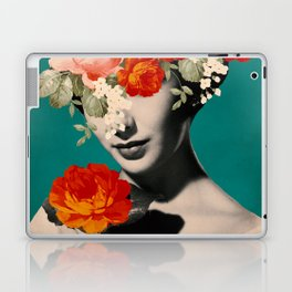 WOMAN WITH FLOWERS Laptop & iPad Skin
