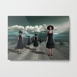Road of girls Metal Print