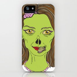 Lady Zombie  iPhone Case
