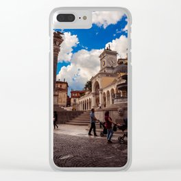 Spring afternoon in the city of Udine Clear iPhone Case