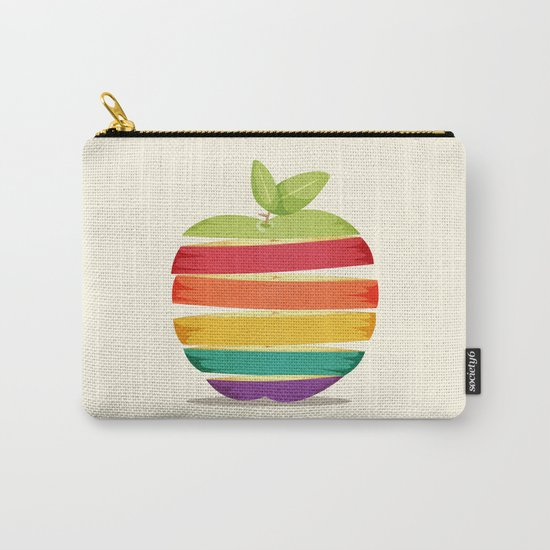 Rainbow Apple Carry-All Pouch
