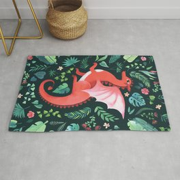Tropical Dragon Rug