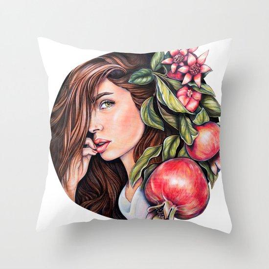 Pomegranate flowers Throw Pillow