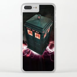 TARDIS Clear iPhone Case