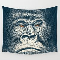 gorilla Wall Tapestries featuring Gorilla by Lara Trimming