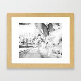 Looming Ruin Framed Art Print