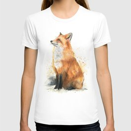 Red Fox Pattern T-shirt