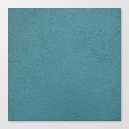 Abstract solid color turquoise wall texture Canvas Print