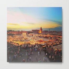 Sunset on Marrakech Metal Print