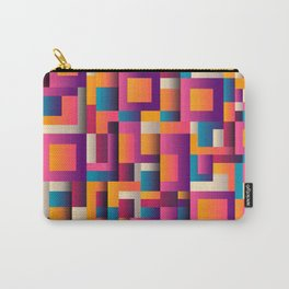 Abstract Geometric Shapes Bold Colors Carry-All Pouch