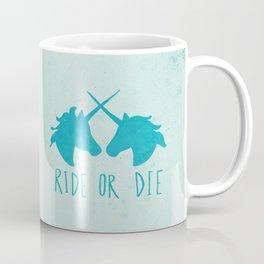 Ride or Die x Unicorns x Turquoise Coffee Mug