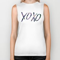 xoxo Biker Tanks featuring XOXO by Leah Flores