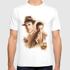 MAD MEN DON DRAPER MEDIUM White Mens Fitted Tee