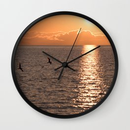 Asymmetrical Glow Wall Clock